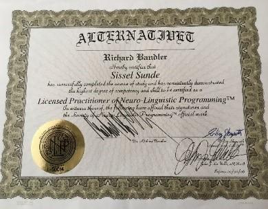 SS; diplom NLP Bandler