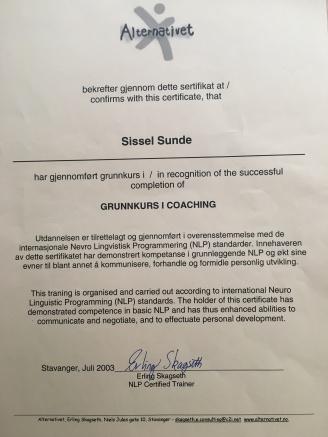 SS; diplom NLP Coaching