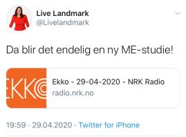 LL; me-studie NRK EKKO
