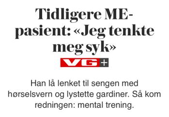 VG; Tenkte meg syk